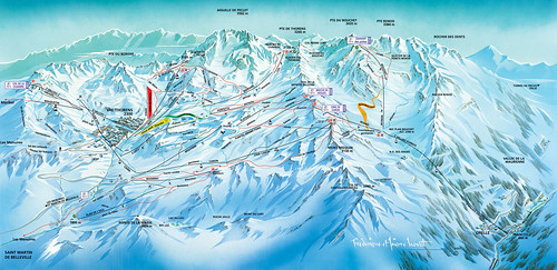 Tři údolí - mapa sjezdovek