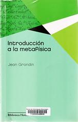Jean Grondin, Introducción a la metafísica