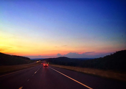 Gadsden, Alabama at Sundown #gadsden #gadsdenalabama #alabama #highway #explorealabama #sundown #sunset #dusk #twilight #traffic #sky #scene #scenery #beautiful #picoftheday #pictureoftheday #picturesque #horizon #highway431 #theamericancollective #the_ho