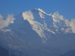 Jungfrau from Harder Station Lift - where it is dusty, it is, where clear - clear it is (1)