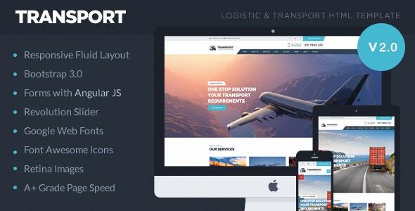 Transport v2.1.0 - Logistic, Transportation & Warehouse HTML5 Template