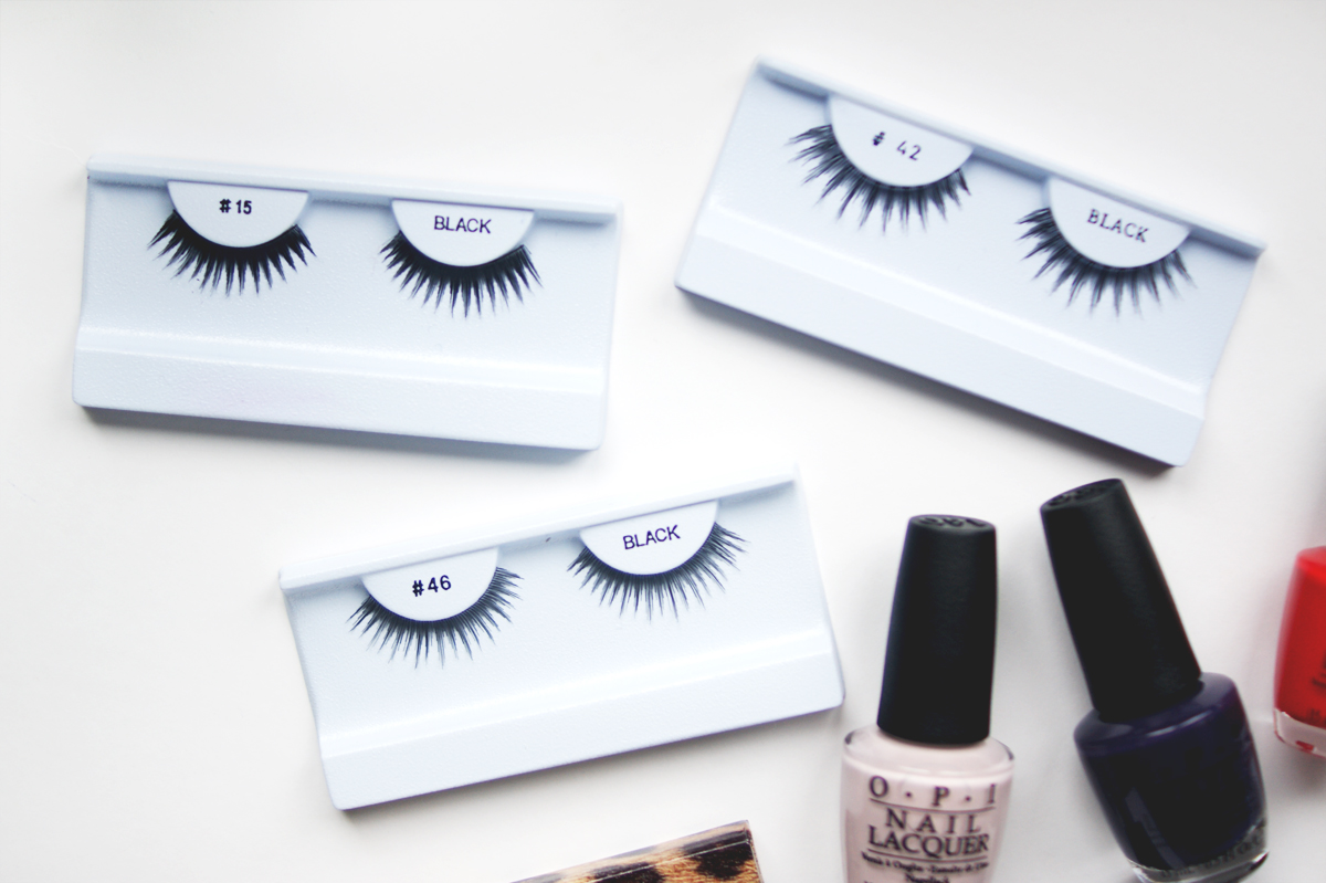 IMATS Toronto makeup beauty haul 2014 lashes #42 #15 #46