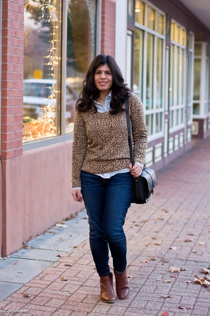 leopard sweater, chambray shirt, jeans-1.jpg
