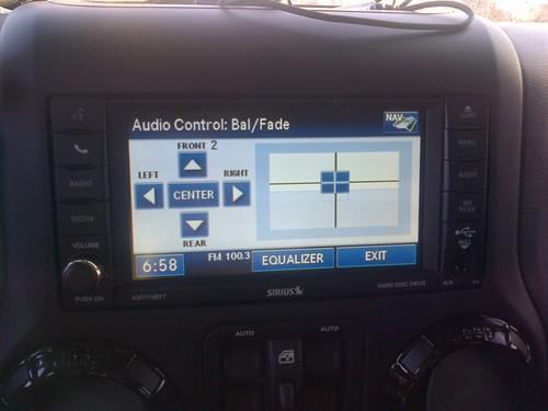 jeep fader settings