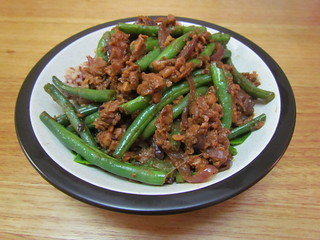 Szechwan Tempeh and Green Beans