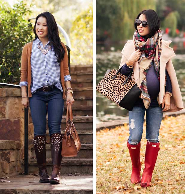 cute & little blog | petite fashion | cowboy boots, rain boots