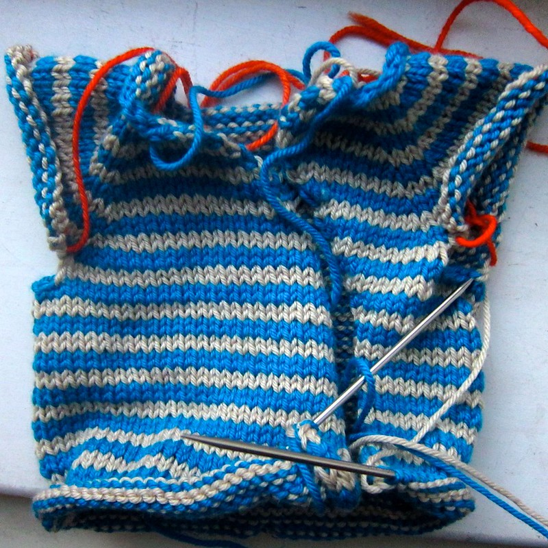 Gift Wrap Baby Cardigan progress