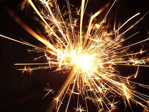 Sparkler courtesy of Wikimedia Commons