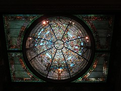 Driehaus Museum stained glass dome