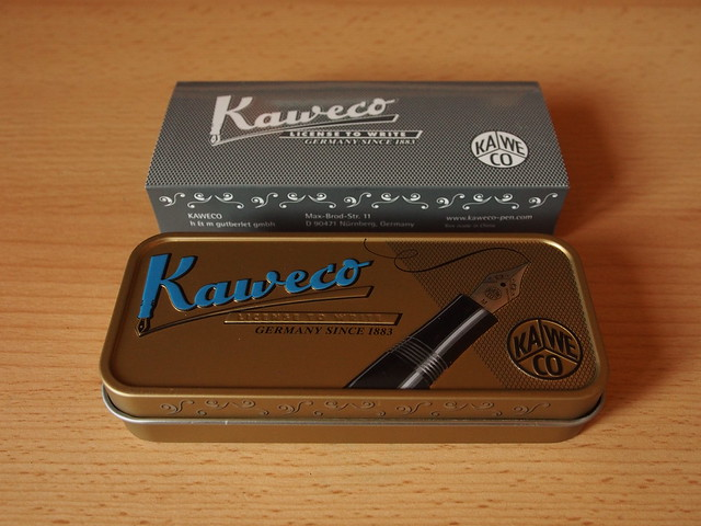 Kaweco AL Sport Stonewashed Blue Fountain Pen - Review - Closed Box