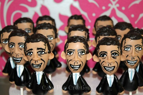 Barrack Obama Cake Pops