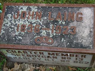 Wildwood Cemetery-Sheboygan-Laing-John-detail