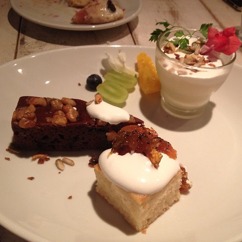 Dessert plate at Ain Soph Journey in Shinjuku.