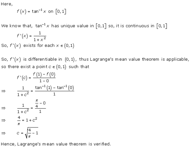 RD Sharma Class 12 Solutions Chapter 15 Mean Value Theorems Ex 15.2 Q1-x
