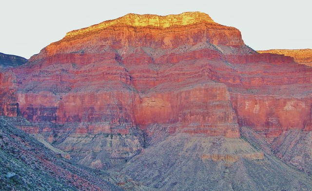 Eremita Mesa at Sunrise, Grand Canyon National Park