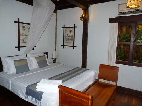 Nuestra habitación de Luang Prabang (Laos)