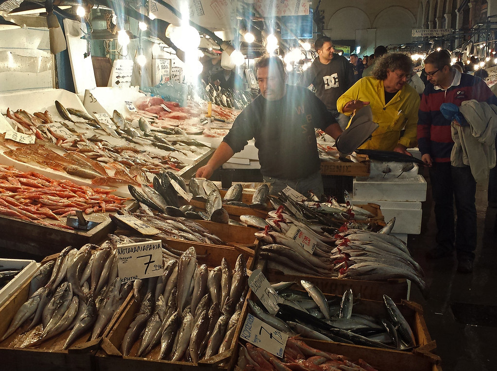 Athens central fish market for Central fish market