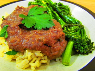 Wonder Bean Puree; Gingered Broccolini