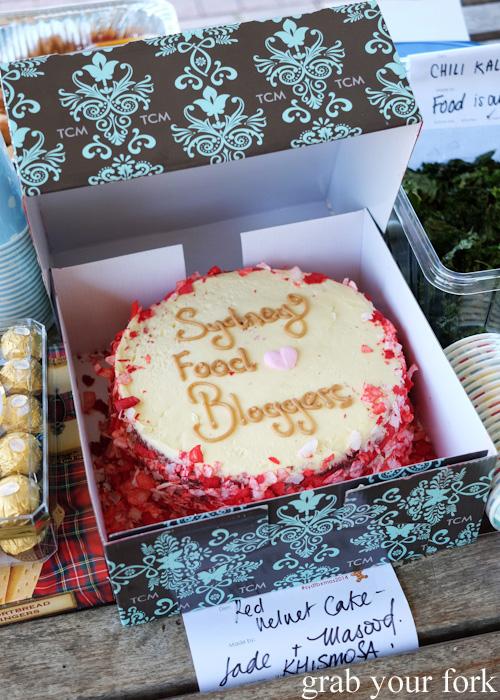 Red velvet cake at the Sydney Food Bloggers Christmas Picnic 2014 #sydfbxmas2014