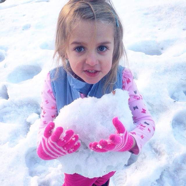 She wanted to have a snowball fight  #missz