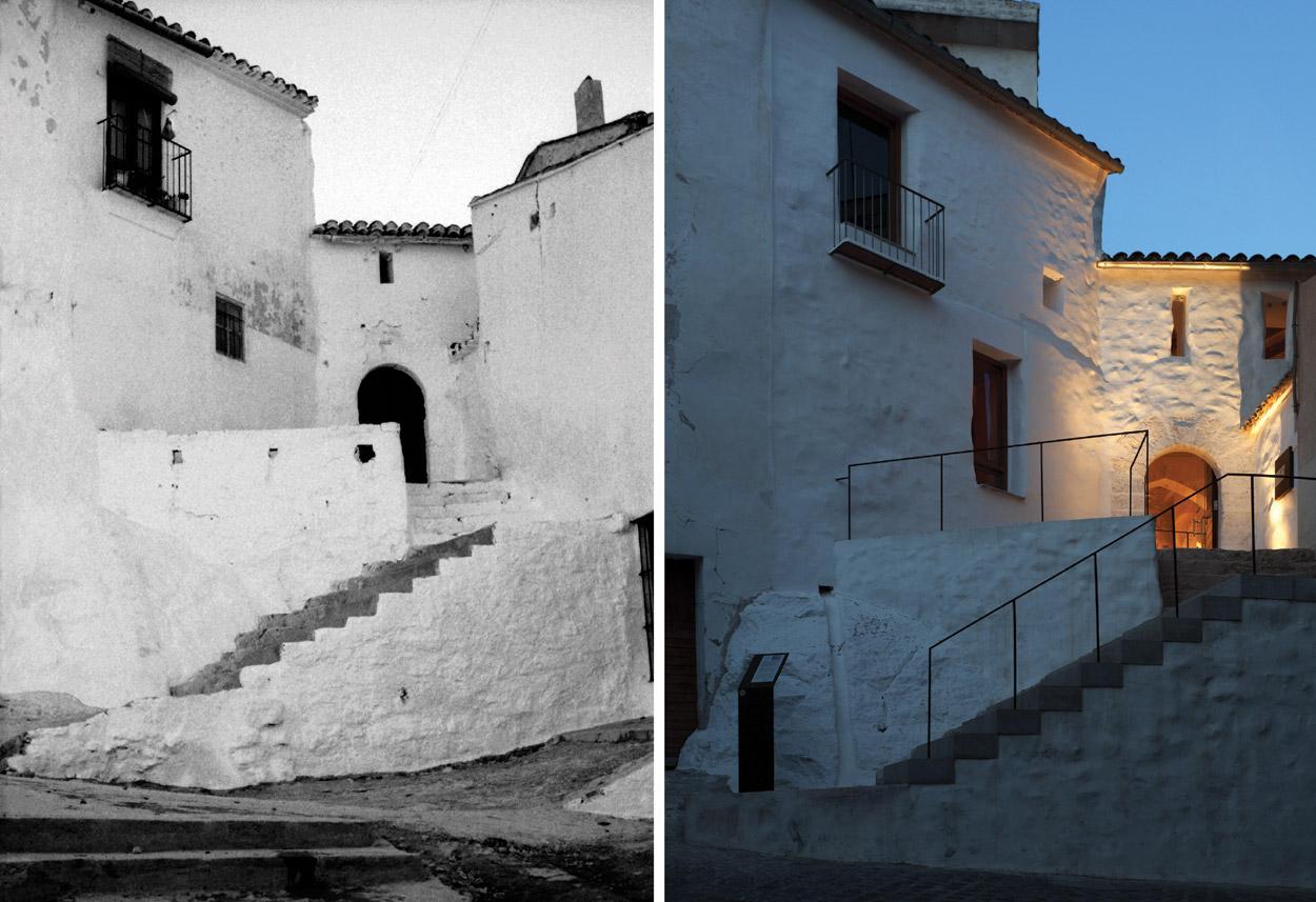 FORN DE LA VILA DE LLÍRIA_autor foto D.Opazo+foto antigua_intervencion_hidalgomora arquitectura patrimonio