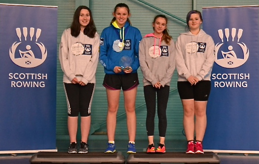 Junior 14 Scottish Indoor Rowing Champions