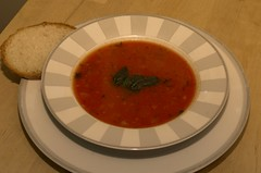 Garlic, Basil and Tomato Soup