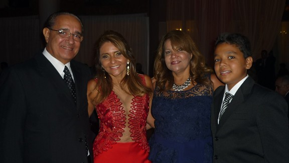 Geraldo Pinheiro, Vera Branco, Vânia e Gustavo Pinheiro