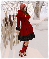 Mishmash Fusion - Winter Wool Coat (Red) & Feeling Elvish Red Boots