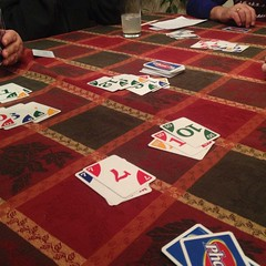 Stimulating end to a good day. #phase10 #cards #geek