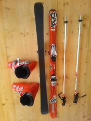 Dětské lyže+boty+hůlky - titulní fotka