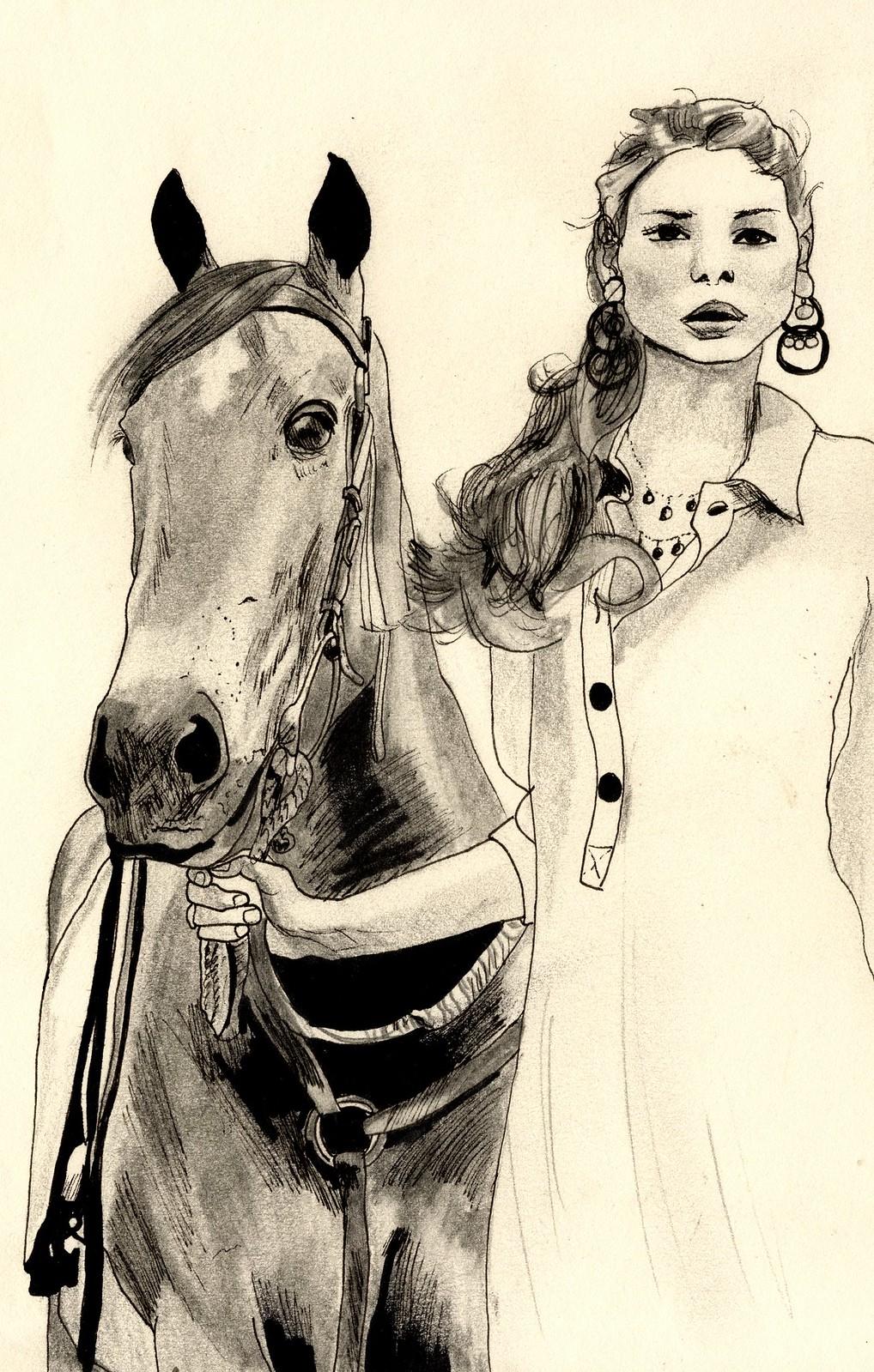 Sketchbook - Girl and Horse