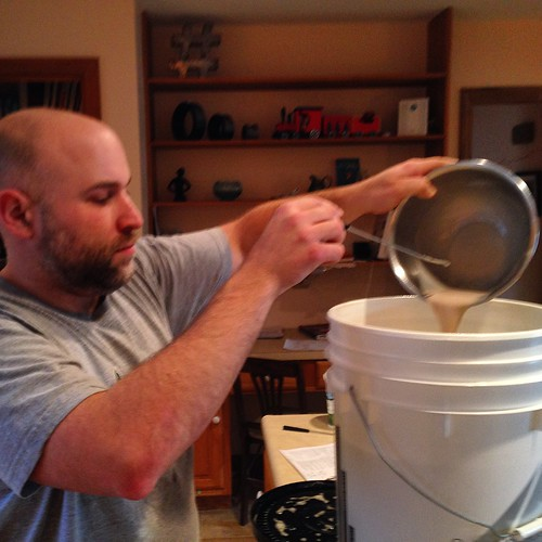 Pitching a double dose of Belle Saison. #homebrewing