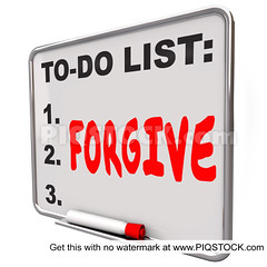 Forgive Word Written To Do List Board Grace Absolve Excuse Forget