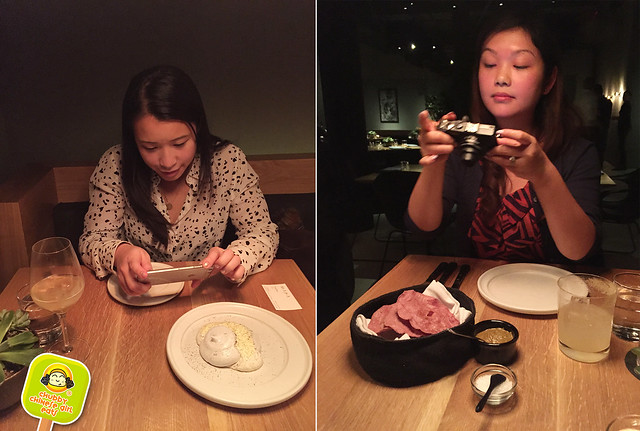 Cosme NYC - food bloggers at work
