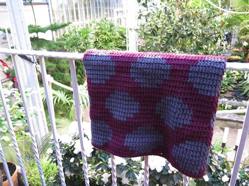 Crochet polka dot cowl