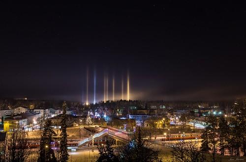 Mysterious Light Pillars