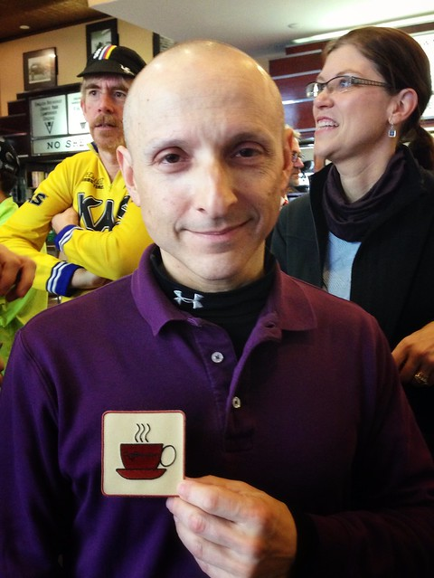 Ted with the coveted Coffeeneur patch