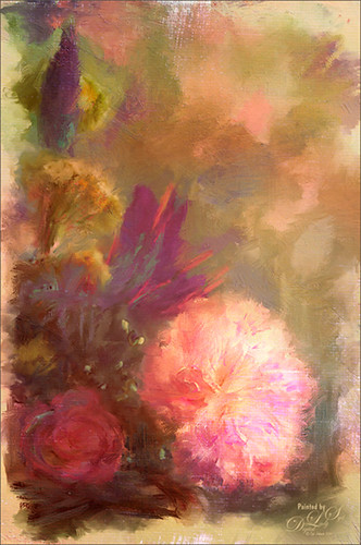 Image of flowers painted in Corel Painter and Photoshop