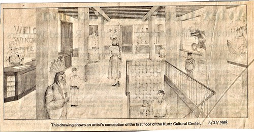Artist's conception of the first floor of the KCC, Nov. 1988