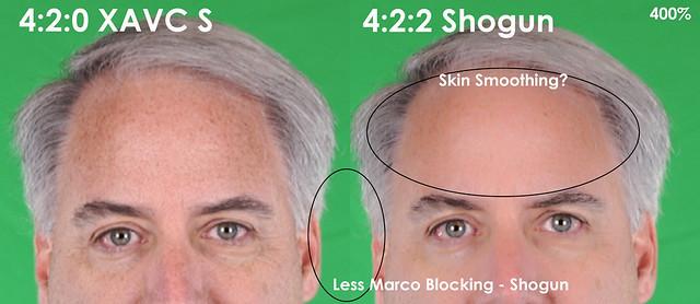 4:2:0 vs 4:2:2 XAVCS vs Atomos Shogun