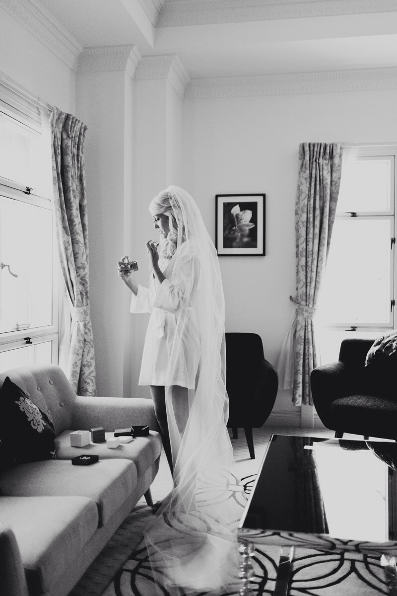 2014 weddings - b&w bride