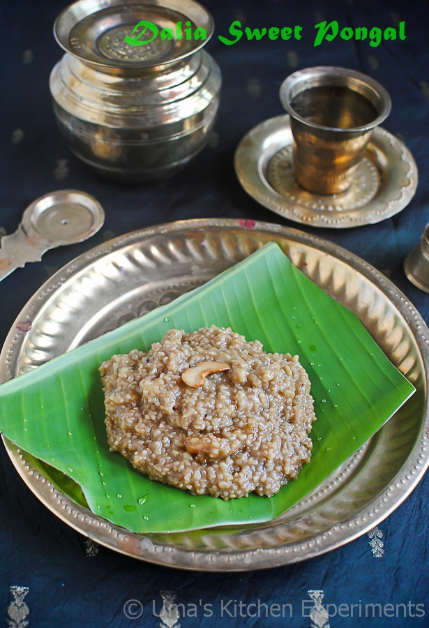 Cracked Wheat Sweet Pongal recipe
