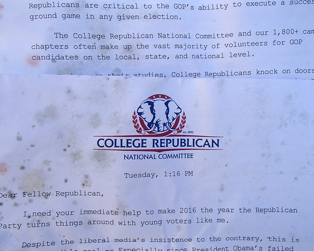 College Republican National Committee covered in mold
