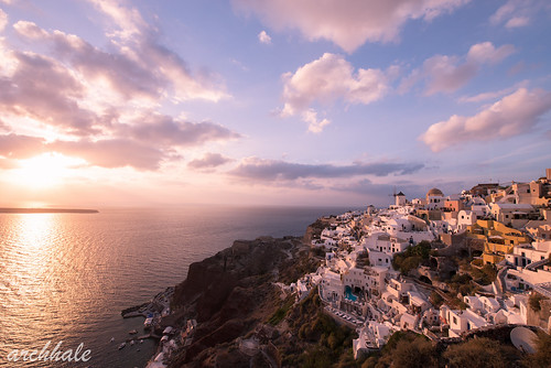 sunset nikon santorini greece 日落 oia d800 圣托里尼 希腊