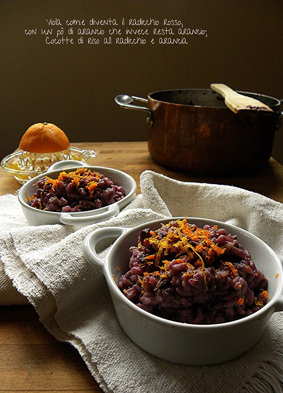 risotto al radicchio rosso e arancia