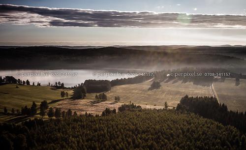 3 sverige dimma swe västragötaland edsviken näs bengtsfors flygfoto ärtingen