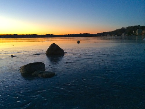morning winter sky lake cold ice nature water colors sunrise frozen