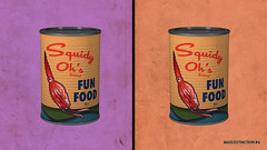 Squid Fun Food Cans