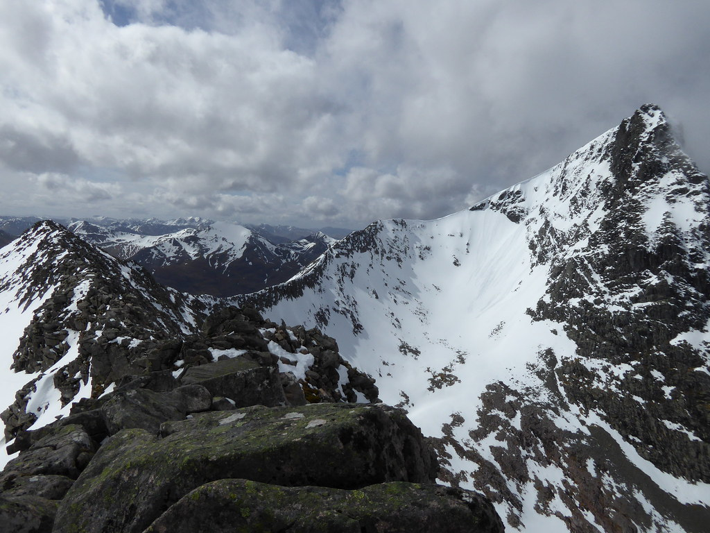 On the arete looking at Ben Nevis